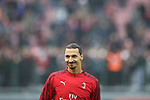 Zlatan Ibrahimovic of AC Milan smiles towards fans during the Serie A match at Giuseppe Meazza, Milan. Picture date: 6th January 2020. Picture credit should read: Jonathan Moscrop/Sportimage