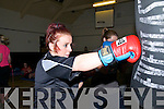 "Rumble in Listowel : Megan Galvin, Listowel in practice for the forthcoming ""Rumble in Listowel"" white collar charity boxing event to take place in Listowel on the 16th November."