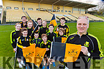 Tony Power and the Dr Crokes supporters are stocking up with flags and club colours ahead of the All Ireland club final in Croke Park on Friday front row l-r: Darragh O'Shea Luke O'Shea Darragh Sugrue Mark Sheehan, Gearoid Sugrue, Back row: Emma Kelly, Gearoid Sugrue, Holly Power, Peter O'Shea Ava Sheehan and Alan O'Shea