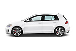Car Driver side profile view of a 2015 Volkswagen GTI DSG SE PZEV 5 Door Hatchback Side View