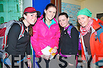 REGISTATION: Registering at the Windmill building Blennerville as they prepare to take part in the Dingle Way walk to raise funds for ST Pats GAA Club, Blennerville on Sunday l-r:, Kaylyn O'Brien (America), Elaine Daughton (Kilflynn), Norma Breen (Blennerville0 and Sonia Dowds (Tralee)