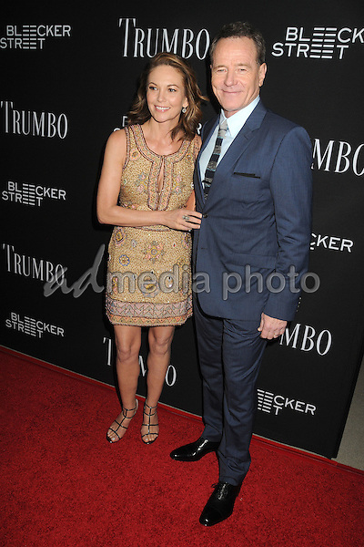 "27 October 2015 - Beverly Hills, California - Diane Lane, Bryan Cranston. ""Trumbo"" Los Angeles Premiere held at the AMPAS Samuel Goldwyn Theater. Photo Credit: Byron Purvis/AdMedia"