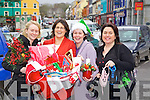 Christmas Market Traders getting ready for the Christmas Market in Kenmare last Friday: Sharon Healy (Kenmare Flowers), Pauline O'Sullivan (Precious Moments), Olivia Harton-O'Sullivan (Chamber of Commerce Office) and Bernie O'Sullivan (Kenmare Dance Studio)..