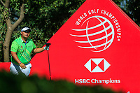Kiradech Aphibarnrat (THA) on the 9th tee during the final round at the WGC HSBC Champions 2018, Sheshan Golf CLub, Shanghai, China. 28/10/2018.<br /> Picture Fran Caffrey / Golffile.ie<br /> <br /> All photo usage must carry mandatory copyright credit (&copy; Golffile | Fran Caffrey)