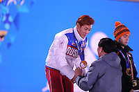 OLYMPICS: SOCHI: Medal Plaza, 15-02-2014, Short Track, Men's 1000m, Victor An (RUS), ©photo Martin de Jong