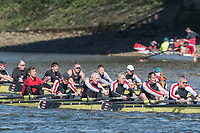 Mortlake/Chiswick, GREATER LONDON. United Kingdom. Two Thames RC. MasE8+, fighting it out during the 2017 Vesta Veterans Head of the River Race, The Championship Course, Putney to Mortlake on the River Thames.<br /> <br /> <br /> Sunday  26/03/2017<br /> <br /> [Mandatory Credit; Peter SPURRIER/Intersport Images]