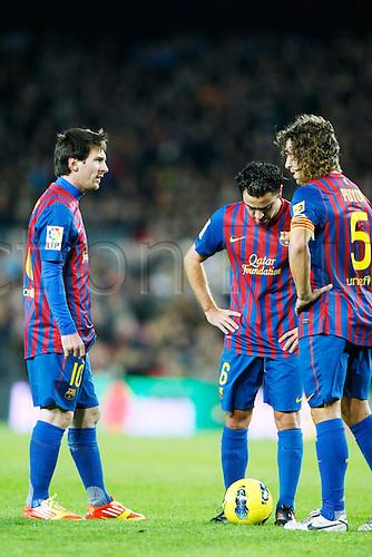 "Lionel Messi (Barcelona), DECEMBER 3, 2011 - Football / Soccer : Spanish ""Liga Espanola"" match between FC Barcelona 5-0 Levante UD at Camp Nou stadium in Barcelona, Spain."