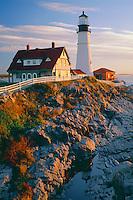 Portland Head Light<br />   and Casco Bay<br /> Fort Williams<br /> New England,  Maine