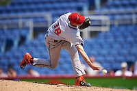Richmond Flying Squirrels relief pitcher Tyler Rogers (18) delivers a pitch during a game against the Binghamton Mets on June 26, 2016 at NYSEG Stadium in Binghamton, New York.  Binghamton defeated Richmond 7-2.  (Mike Janes/Four Seam Images)