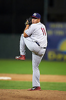 Mahoning Valley Scrappers pitcher Ping-Hsueh Chen (11) delivers a pitch during a game against the Batavia Muckdogs on June 23, 2015 at Dwyer Stadium in Batavia, New York.  Mahoning Valley defeated Batavia 11-2.  (Mike Janes/Four Seam Images)