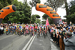 Ready for the start of Stage 21 of the 2018 Giro d'Italia, running 115km around the centre of Rome, Italy. 27th May 2018.<br /> Picture: LaPresse/Massimo Paolone | Cyclefile<br /> <br /> <br /> All photos usage must carry mandatory copyright credit (&copy; Cyclefile | LaPresse/Massimo Paolone)