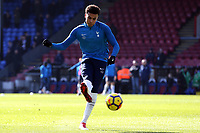 Dele Alli of Tottenham Hotspur ahead of kick off before Crystal Palace vs Tottenham Hotspur, Premier League Football at Selhurst Park on 25th February 2018