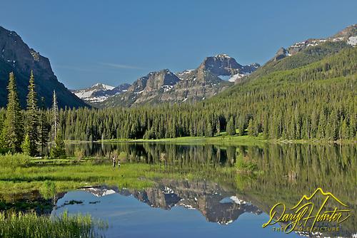 Hyalite Reservoir, Gallatin Mountains, Reflection