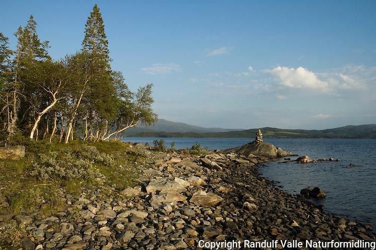 Innsjøen Feren en sommerdag. Dette er kildene til elva Forra.  ---- The lake Feren a summer day.
