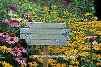 63821-07312 Garden Poem on sign in Bird Flower Garden Marion Co.  IL