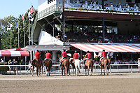 Closing day scenes from around the track on Hopeful Stakes day on September 04, 2017 at Saratoga Race Course in Saratoga Springs, New York. (Bob Mayberger/Eclipse Sportswire)