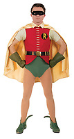 BNPS.co.uk (01202 558833)<br /> Pic: ProfilesInHistory/BNPS<br /> <br /> Pictured: Robin's iconic suit<br /> <br /> Iconic Batman and Robin costumes used in the classic 1960s TV series have emerged for sale for £155,000.<br /> <br /> The instantly recognisable outfits were worn by stars Adam West and Burt Ward who played the famous hero in the popular 'Batman' show.<br /> <br /> The programme ran for three series between 1966 and 1968 and remains a firm favourite among fans of the Caped Crusader today.<br /> <br /> Both costumes have spent more than 20 years in a private collection but are now set to go under the hammer.