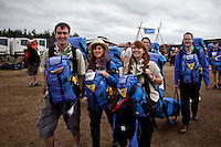 British IST:s are arriving. Photo: Kim Rask/Scouterna