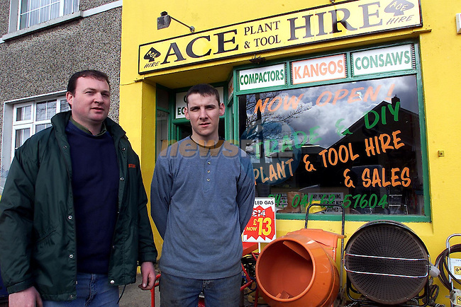 Raymond Moore and Peter Ward pictured outside Ace Hire in Ardee.Tiff245k0199.pic:Arthur Carron/ Newsfile