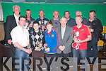 Listowel Golf Club Captains Day: Pictured at the presentation of the Listowel Golf Club Captain's prizes at Christies Bar, Listowel o n Sunday night. Front : John Joy, 2nd, Padraigh Logue, Winner Junior prize, Cathal O'Sullivan, 2nd Junior section, Willie Wixted, Captain, Paul Donegan, Overall winner. Back :Michael Barrett,President,  Mike Barry Guest Prize , Danny Logue, Racing Cup Winner, Tom Linnane, Sheamus Stack, Willie Enright Spring League 2012 Winners & David Toomey, Nearest the pin Captains prize.