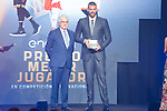 CEO of Endesa Jose Bogas and player Marc Gasol (r) during the first edition of Spanish Basketball Awards. July 25, 2019. (ALTERPHOTOS/Francis Gonzalez)