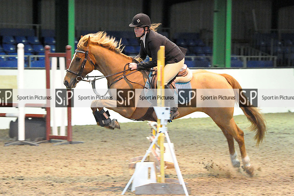 Class 7. Unaffiliated showjumping. Brook Farm Training Centre. Essex. UK. 27/01/2019. ~ MANDATORY Credit Garry Bowden/Sportinpictures - NO UNAUTHORISED USE - 07837 394578