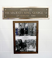 05/02/2020 - A plaque on the wall commemorates when King George VI opened the original station on February 2, 1948 during the visit of his daughter Queen Elizabeth II to Wolferton Pumping St. Photo Credit: ALPR/AdMedia