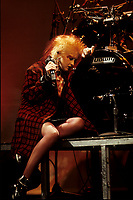 FILE PHOTO : Cindy Lauper<br />  , circa 1985<br /> <br /> PHOTO : Harold Beaulieu - Agence Quebec Presse