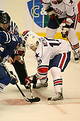 March 13, 2009:  Center Stefan Meyer (10) of the Rochester Amerks, AHL affiliate of the Florida Panthers, in the third period during a game at the Blue Cross Arena in Rochester, NY.  Toronto defeated Rochester 4-2.  Photo copyright Mike Janes Photography 2009