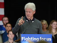 Bill Clinton campaigns for Hillary 2016