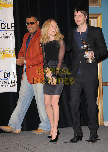 LAURENCE FISHBURNE & KATE BOSWORTH & JIM STURGESS.attends The Showest Closing Night Award Ceremony held at Paris Hotel in Las Vegas, California, USA,  .March 13th 2008.                                                                     .full length black dress shoes.CAP/DVS.©Debbie VanStory/Capital Pictures
