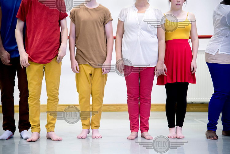 Dancers during the dress rehersal at the Leeds Dance United studios. The company works with marginalised young people, transforming lives through dance.