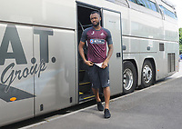Jordan Ayew of Swansea City arrives at Huish Park prior to kick off of the Pre-Season Friendly between Yeovil and Swansea City at Huish Park, Yeovil, England, UK. Tuesday 10 July 2018