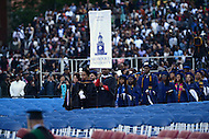 Washington, DC - May 7, 2016: Degree recipients start the processional of the 148th Commencement Convocation at Howard University in the District of Columbia, May 7, 2016.  (Photo by Don Baxter/Media Images International)