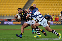 Wellington&rsquo;s Asafo Aumua in action during the Mitre 10 Cup - Wellington v Auckland at Westpac Stadium, Wellington, New Zealand on Thursday 4 October 2018. <br /> Photo by Masanori Udagawa. <br /> www.photowellington.photoshelter.com