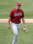 June 6, 2004:  Pitcher David Maust of the Harrisburg Senators, Eastern League (Doube-A) affiliate of the Montreal Expos (Washington Nationals) during a game at Jerry Uht Park in Erie, PA.  Photo by:  Mike Janes/Four Seam Images
