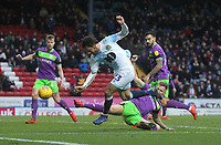 Blackburn Rovers Bradley Dack gets a shot on goal<br /> <br /> Photographer Mick Walker/CameraSport<br /> <br /> The EFL Sky Bet Championship - Blackburn Rovers v Bristol City - Saturday 9th February 2019 - Ewood Park - Blackburn<br /> <br /> World Copyright &copy; 2019 CameraSport. All rights reserved. 43 Linden Ave. Countesthorpe. Leicester. England. LE8 5PG - Tel: +44 (0) 116 277 4147 - admin@camerasport.com - www.camerasport.com