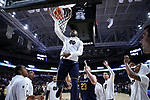 WINSTON-SALEM, NC - FEBRUARY 24: Notre Dame's Temple TJ Gibbs. The Wake Forest University Demon Deacons hosted the University of Notre Dame Fighting Irish on February 24, 2018 at Lawrence Joel Veterans Memorial Coliseum in Winston-Salem, NC in a Division I men's college basketball game. Notre Dame won the game 76-71.