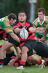 Arron Angareu clears from a defensive ruck near the tryline.  Counties Manukau Premier Club Rugby Game of the Week between Drury & Papakura, played at Drury Domain on Saturday Aprill 11th, 2009..Drury won 35 - 3 after leading 15 - 5 at halftime.