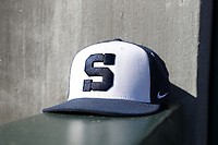 CARY, NC - FEBRUARY 23: Penn State University baseball hat during a game between Wagner and Penn State at Coleman Field at USA Baseball National Training Complex on February 23, 2020 in Cary, North Carolina.