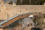 Israel, Jerusalem Old City. The Archaeological digging by the Gate of the Maghrebin