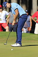 Andrea Pavan (ITA) putts on the 10th green during Thursday's Round 1 of the 2018 Turkish Airlines Open hosted by Regnum Carya Golf &amp; Spa Resort, Antalya, Turkey. 1st November 2018.<br /> Picture: Eoin Clarke | Golffile<br /> <br /> <br /> All photos usage must carry mandatory copyright credit (&copy; Golffile | Eoin Clarke)