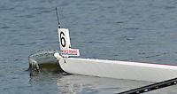 Brest, Belarus.  CAN BM4+, as the star boot opens, at the start.  2010. FISA U23 Championships. Thursday,  22/07/2010.  [Mandatory Credit Peter Spurrier/ Intersport Images]