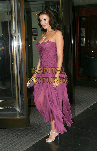 DANNII MONOGUE.Sony Radio Academy Awards.full length, full-elngth, purple flowing dress.www.capitalpictures.com.sales@capitalpictures.com.© Capital Pictures.