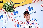 Warren Barguil (FRA) Team Sunweb retains the Polka Dot Jersey at the end of Stage 16 of the 104th edition of the Tour de France 2017, running 165km from Le Puy-en-Velay to Romans-sur-Isere, France. 18th July 2017.<br /> Picture: ASO/Alex Broadway | Cyclefile<br /> <br /> <br /> All photos usage must carry mandatory copyright credit (&copy; Cyclefile | ASO/Alex Broadway)