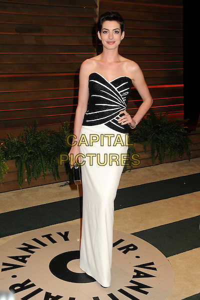 02 March 2014 - West Hollywood, California - Anne Hathaway. 2014 Vanity Fair Oscar Party following the 86th Academy Awards held at Sunset Plaza.  <br /> CAP/ADM/BP<br /> &copy;Byron Purvis/AdMedia/Capital Pictures