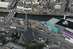 Aerial View of Drogheda showing St.Marys's Church, looking North across the Boyne with Scotch Hall and North Quay in view, 02/09/05...Photo NEWSFILE/Fran Caffrey.(Photo credit should read Fran Caffrey/NEWSFILE)....This Picture has been sent you under the condtions enclosed by:.Newsfile Ltd..The Studio,.Millmount Abbey,.Drogheda,.Co Meath..Ireland..Tel: +353(0)41-9871240.Fax: +353(0)41-9871260.GSM: +353(0)86-2500958.email: pictures@newsfile.ie.www.newsfile.ie.FTP: 193.120.102.198...This picture is from Fran Caffrey@newsfile.ie