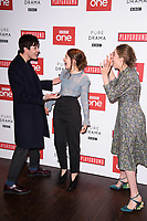 Annes Elwy, Jonah Hauer-King &amp; Maya Hawke at the &quot;Little Women&quot; screening at the Soho Hotel, London, UK. <br /> 11 December  2017<br /> Picture: Steve Vas/Featureflash/SilverHub 0208 004 5359 sales@silverhubmedia.com