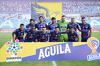 SANTA MARTA – COLOMBIA, 29-09-2019: Jugadores de Unión posan para una foto previo al partido por la fecha 13 de la Liga Águila II 2019 entre Unión Magdalena y Atlético Junior jugado en el estadio Sierra Nevada de la ciudad de Santa Marta. / Players of Union pose to a photo prior the match for the date 13 as part Aguila League II 2019 between Union Magdalena and Atletico Junior played at Sierra Nevada stadium in Santa Marta city. Photo: VizzorImage / Gustavo Pacheco / Cont