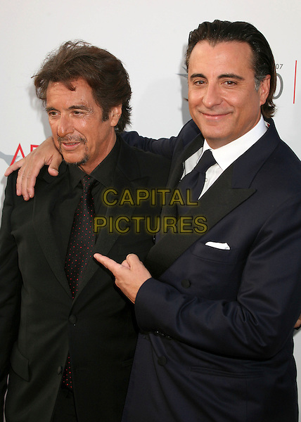AL PACINO & ANDY GARCIA.35th Annual AFI Life Achievement Award Honoring Al Pacino at the Kodak Theatre, Hollywood, California, USA.7 June 2007..half length pointing.CAP/ADM/BP.©Byron Purvis/AdMedia/Capital Pictures.